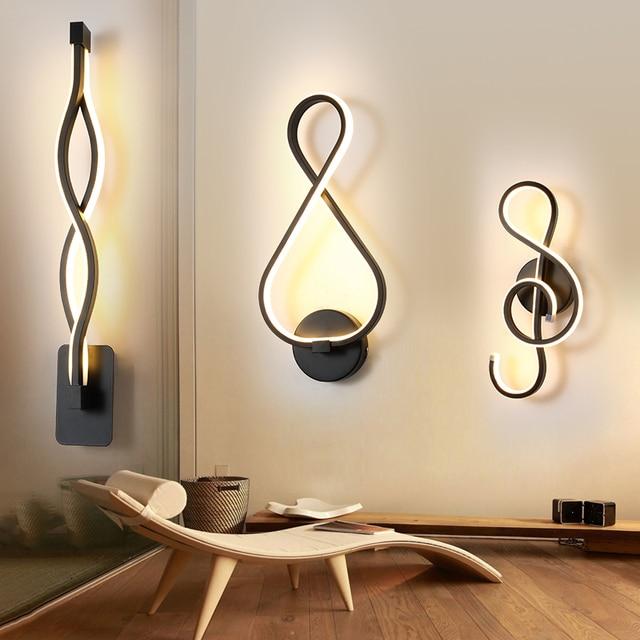 Wall Lamp Living Room Bedroom Bedside Black Nordic Sconce Aisle Corridor Modern LED Wall Light Decor Indoor Lighting Fixtures 4