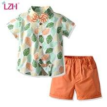 2020 Summer Children Baby Boys Clothes Beach Flower Shirt Sh
