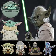 Trendy Cute Cartoon Anime Star Wars Master Yoda Enamel Brooches Baby Yoda Lapel Pins Badges Jewelry Gift For Friends Fans цена 2017