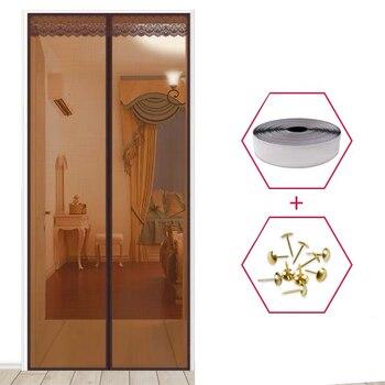 1 adet yüksek kalite manyetik tel örgü elek kapı Fly Bug böcek sivrisinek Net perde