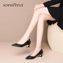 Женские туфли лодочки sophitina модные выразительные на каблуках