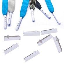10 шт./партия, белые наконечники для шнурков, сменные мужские Т-образные головки для женщин и мужчин, шнурки для обуви, круглые аксессуары для шнурков DIY
