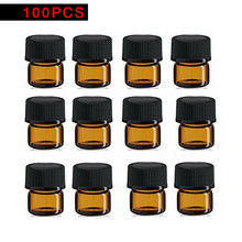 100pcs 1ml Glass Essential Oil Bottle Thin Glass Small Brown Perfume Oil Vials Sample Test Bottle недорого