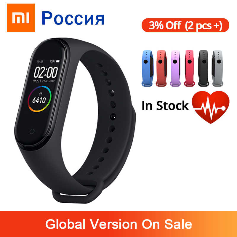 Xiao mi mi Band 4 Smart Armband 3 AMOLED Farbe Bildschirm mi band 4 Herz Rate Fitness Bluetooth Sport 50ATM wasserdicht SmartBand