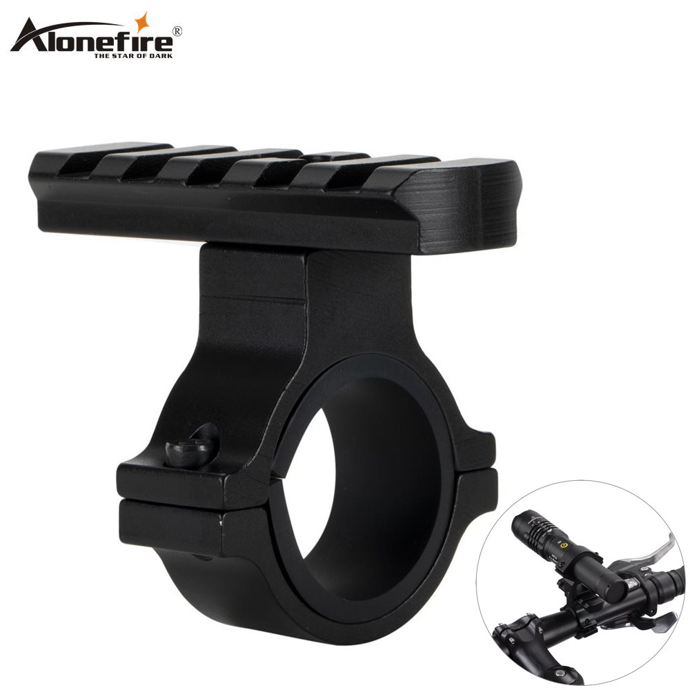 Alonefire M670 Torch Aluminum Clip Mount Bicycle Front Light Bracket Flashlight Holder 360 Rotation Bike Light Accessories