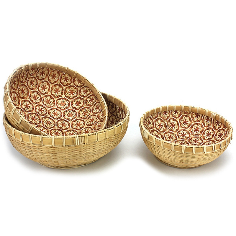 Handmade Wicker Woven Basket, Bread Baskets for Serving, Fruit Baskets, Kitchen Organizer, Handmade Basket, Multi-Purpos