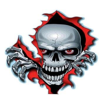 Skull Decal Horrific Skeleton Vinyl Car Stickers  1