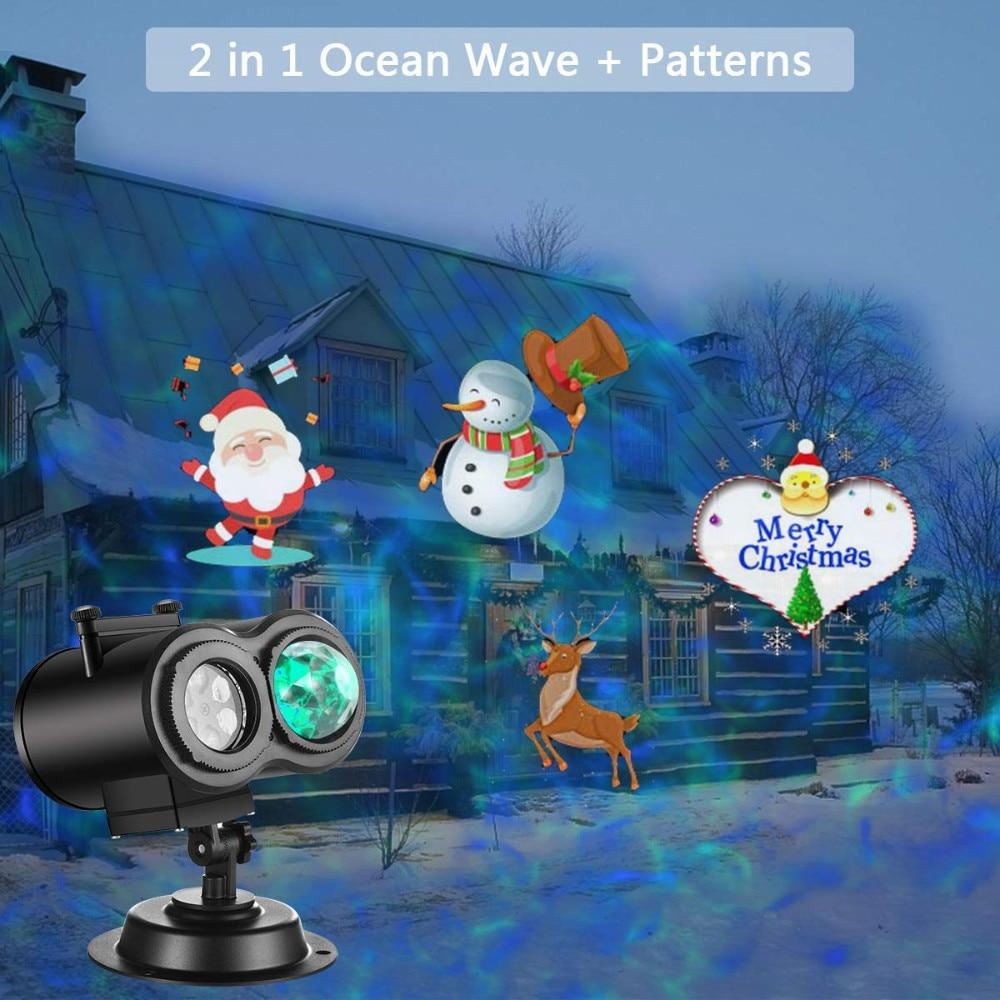Image 2 - 12 Patterns Christmas Lights Outdoor Snowflake Holiday Lighting Waterproof LED Lights Christmas Decorations for Home Outdoor-in Holiday Lighting from Lights & Lighting