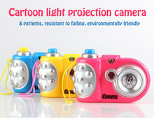 Camera Toys Keychain Early Education Mini flash Shutter sound Projector 8 Animal Pattern Gift Baby Toys(China)