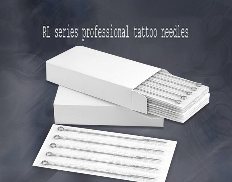 5pcs Assorted Sterilized Tattoo Needles 3/5/7/9RL Professional Tattoo Needles Steel Disposable Needles Tattoo Permanent Makeup
