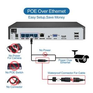 Image 5 - Techage H.265 4CH 5MP POE NVR Kit système de vidéosurveillance deux voies Audio alarme son AI IP caméra IR extérieur vidéo sécurité ensemble de Surveillance