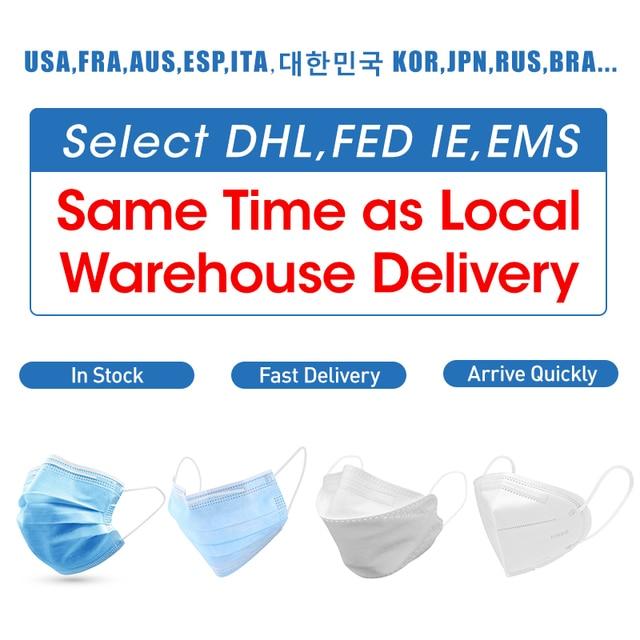 10/20pcs Disposable Face Mask Masks Respirator Mask Cover 3 Layer Non-woven Mask Anti Flu Protective Mask Blue 5