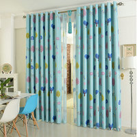 Eco friendly Material Cartoon Cars/Trees Pattern Shopkeeper Recommend Blackout Curtains for Children