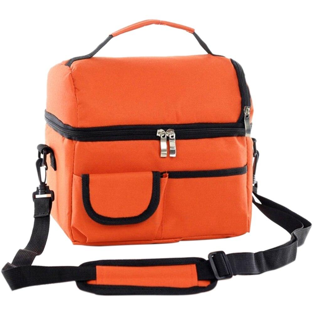 Многофункциональная герметичная двухслойная Дорожная сумка из ткани Оксфорд для пикника, Офисная Изолированная свежая сумка для ланча, сумка холодильник, многоразовая сумка|Сумки для завтрака|   | АлиЭкспресс - time for lunch