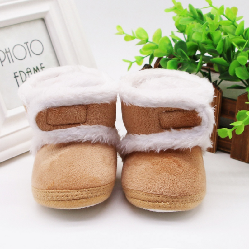 Toddler Boots Winter First Walkers Warm Newborn Baby Shoes Baby Girls Boys Shoes Soft Sole Fur Snow Booties For 0-18M