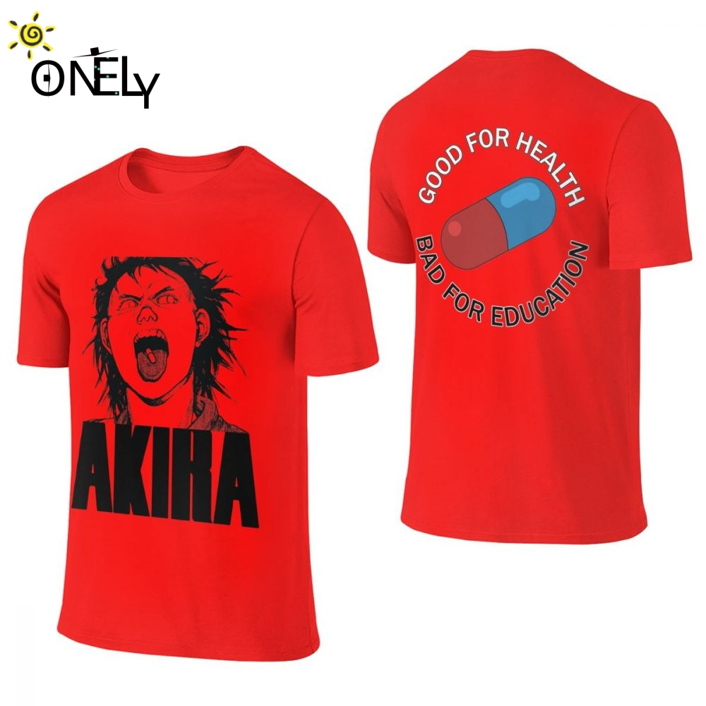 Double-sided Printing Akira T Shirt For Unisex Summer Cool Great Round Collar T-shirt