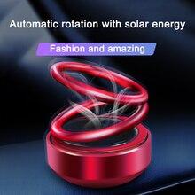 Car Aromatherapy Solar Energy Car Double Loop Rotary Suspension Dashboard Perfume Seat Air Freshener Diffuser Interior Decor