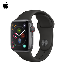 Apple Watch Series 5 44mm Silver Aluminum Case with White/Black/Pink Sport Band,