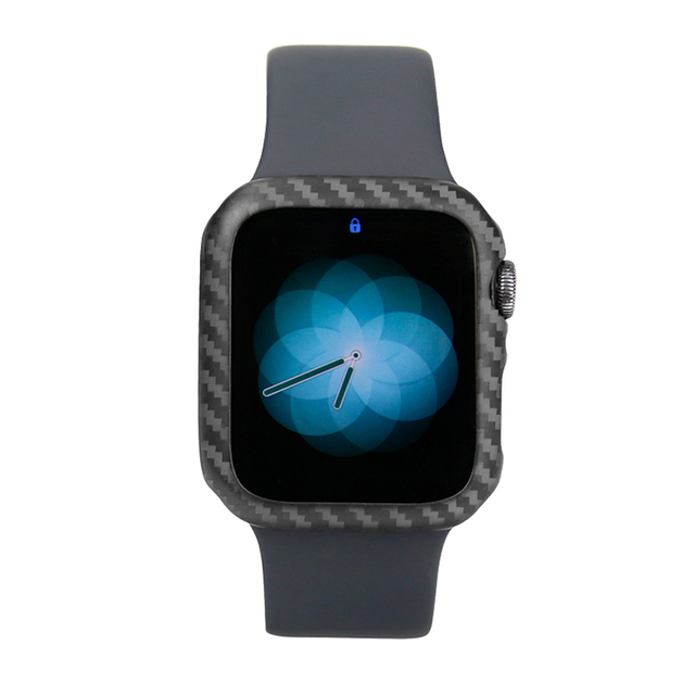 Carbon Fiber Cover For Apple Watch Series 5 4 40mm 44mm Luxury Protective Case For Apple Watch 1 2 3 38mm 42mm Watch Cases Frame | Fotoflaco.net