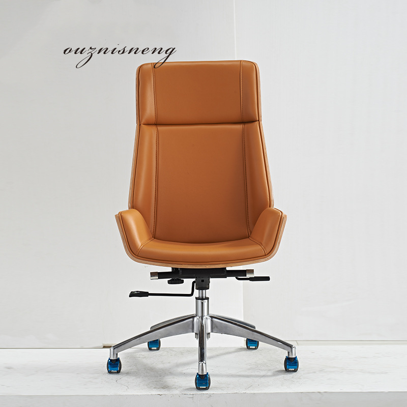 To Work In An Office Swivel Chair Meeting Leisure Time Genuine Leather Chair Class Middle Shift Staff Member Chair Boss Chair
