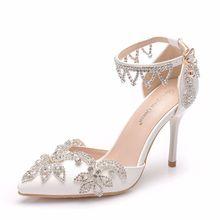 2019 Fashion Delicate Sweet Rhinestone High Heel Shoes Point