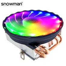 Kardan adam 4 ısı boruları CPU soğutucu RGB 120mm PWM 4 Pin PC radyatör sessiz Intel LGA 2011 1150 1151 1155 AMD AM3 CPU soğutma fanı