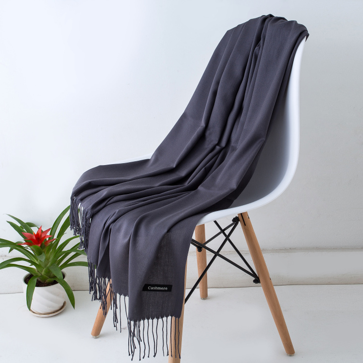 Clearance SaleWinter Scarves Cashmere-Scarf Gray Black Unisex Thin Men Gentleman's And Hot-Sale Bussiness