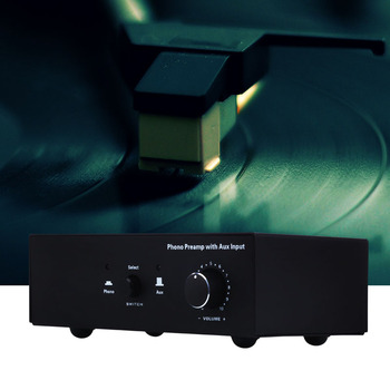 Phono Turntable Preamp Signal Amplifier Prephonograph with Auxiliary Input Volume Control AS99