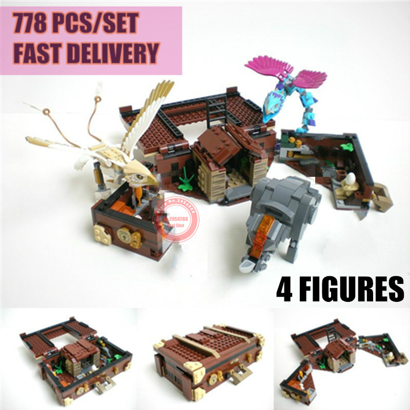 New MOC Castle House Fantastic Beasts Fit Legoings Technic Power Functions Figures Potter Building Block Brick Toy Gift Birthday 4