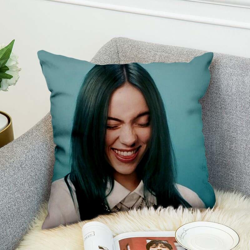 Купить с кэшбэком billie eilish Pillow Case Polyester Decorative Pillowcases Throw Pillow Cover style-1