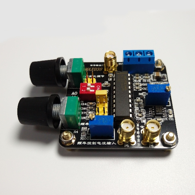 MAX038 Function Signal Generator Module With Rear Stage Op Amp Triangle Wave Sine Wave Rectangular Wave Pulse Wave