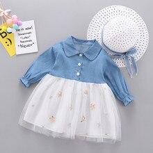 Платье для маленьких девочек; платья для маленьких девочек; vestido infantil vestidos infantil; одежда; batizado; Повседневная Лоскутная одежда с длинными рукавами; Z4