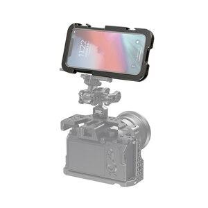 """Image 5 - Smallrig Pro Mobiele Kooi Voor Iphone 11 Pro Max Nauwsluitend Beschermende Kooi Met 1/4 """" 20 Schroefdraad gaten/Koud Schoen Mount   2512"""