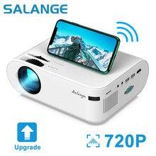 O mini projetor 4000 lumens de salange p62, 1920*1080p apoiou o beamer video do diodo emissor de luz para o telefone móvel que espelha o android opcional