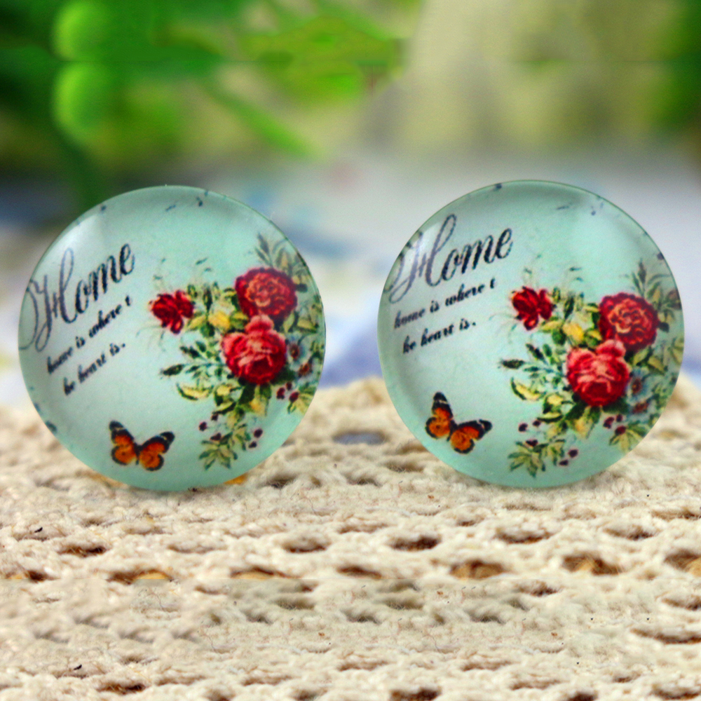 10pcs 20mm Handmade Photo Glass Cabochons  (H2-72)
