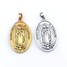 30pcs/lots Our Lady of Guadalupe DIVINO NINO Yo Reinare Dangle Charm Beads Fit Pendant necklace DIY Jewelry 26x49mm A-552a