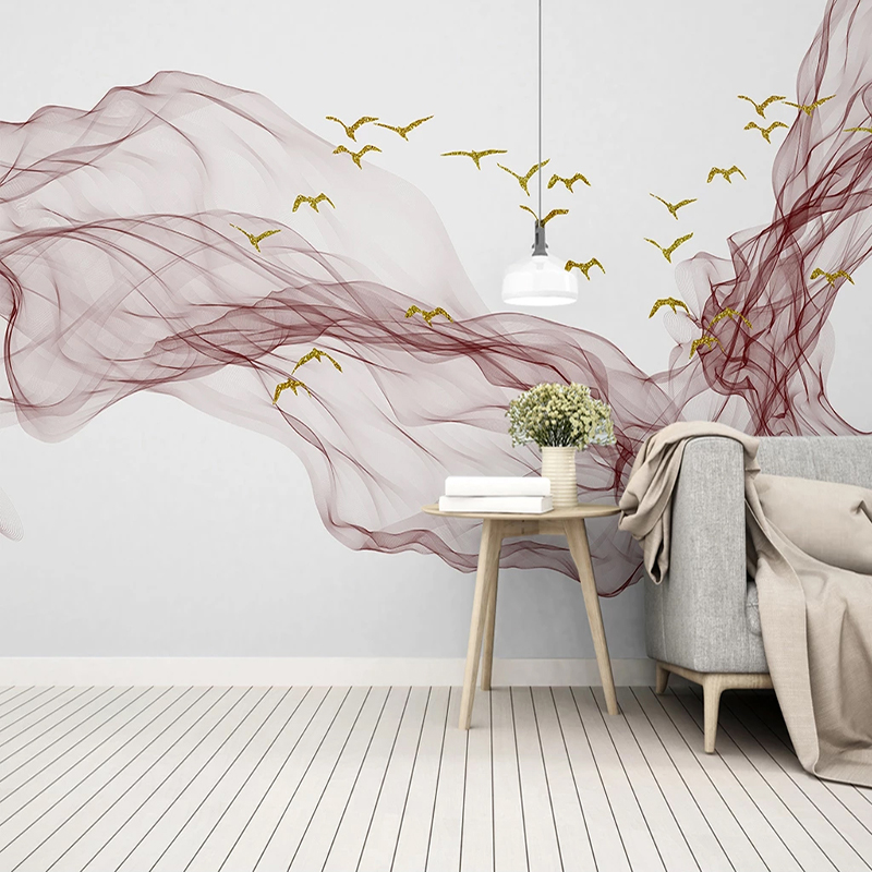 3D Wallpaper Modern Abstract Ink Line Landscape Photo Wall Murals Living Room Bedroom Home Decor Wall Papers Papel De Parede 3 D