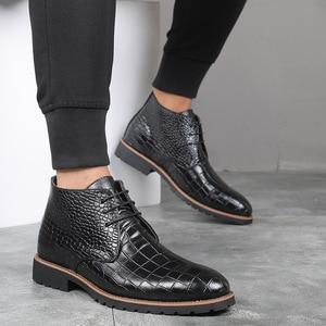 Image 3 - Mens Boots Leather Men Big Size38 48 Lace Up Cowboy Boots Man Shoes Male Water Proof Boots New Platform Shoes Botines Hombre