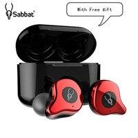Sabbat E12 Ultra Wireless Bluetooth Earphone HiFI Monitor Noise In Ear Sport Headset Wireless Charging Box PK X12 Free shipping