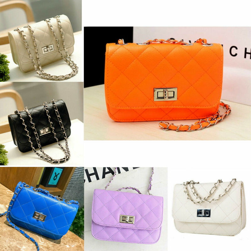 2020 New Creative Fashion Women Leather Messenger Cross-Body Shoulder Tote Bag With Chain Shoulder Strap Solid Chest Bags