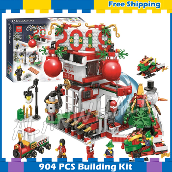 907pcs New Winter Holiday 2019 Gift House 11085 DIY Model Building Kit Blocks Gifts Children Toys Bricks Compatible With LagoING