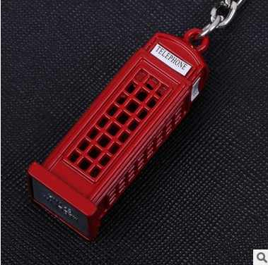 London Phone Booth Keychain Mini Mailbox Small Tag Keychain Metal Keychain Export UK Souvenirs