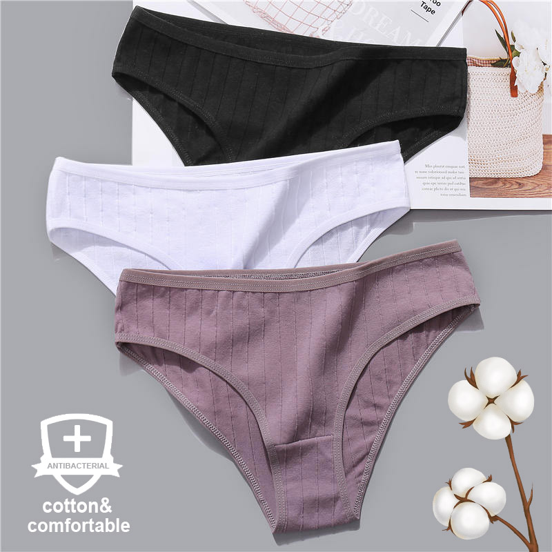 Women Panties Cotton Underwear Solid Color Briefs Female Underpants Intimate Lingerie Sexy Women's Pantys Embossed Heart Pattern