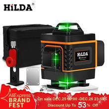 HILDA 3D лазерный уровень самонивелирующийся 360 горизонтальный и вертикальный крест супер мощный зеленый лазерный уровень