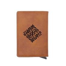 Classic Vintage Illuminati  Logo Leather Credit Card Holder Wallet Classic Men Women Slim Small Credit Card Short Purse