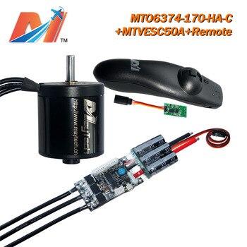 Maytech skateboard remote controller + longboard SuperESC based on VESC + 6374 170KV brushless motor 12s