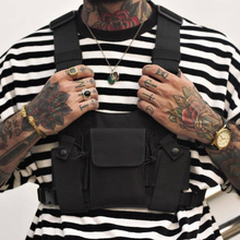 Unisex Fashion Chest Rig Waist Bag Men Hip Hop Streetwear Functional Tactical Chest Bag Casual Travel Cross Body Shoulder Bags