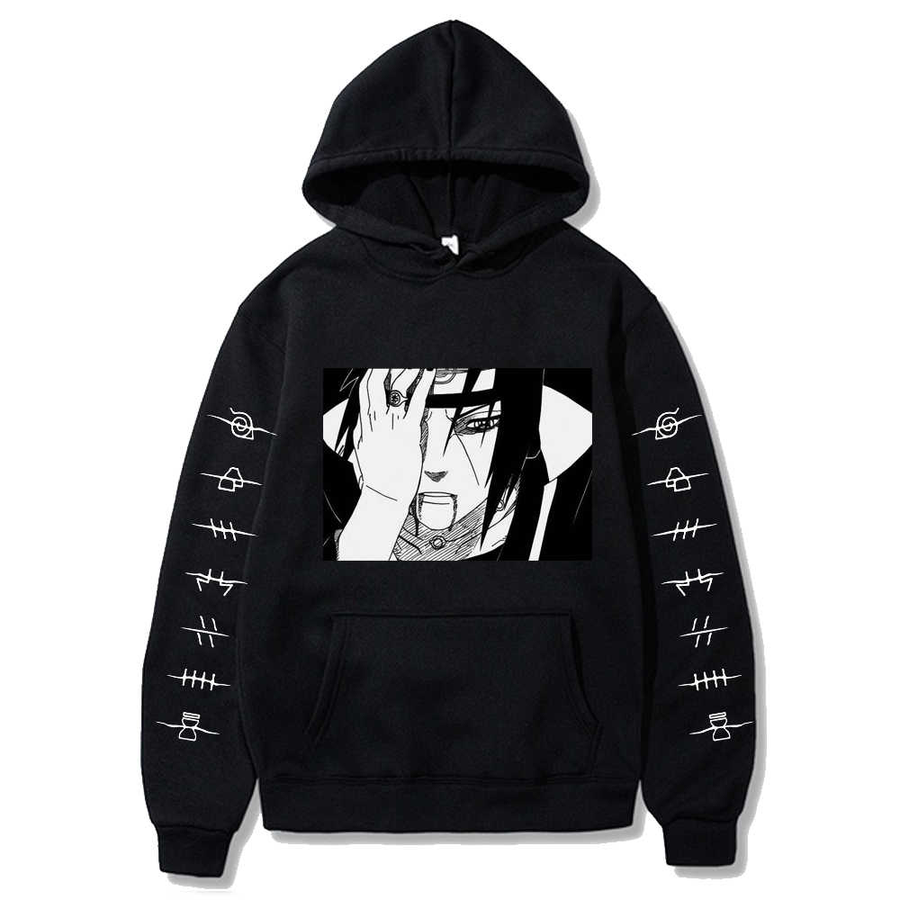 2020 fashion naruto Hoodies Streetwear itachi pullover Sweatshirt Men Fashion autumn winter Hip Hop hoodie pullover