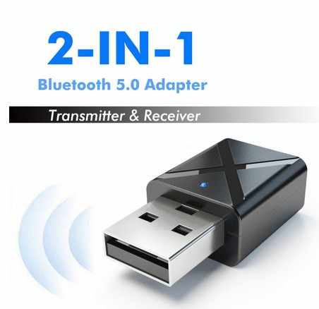 Bluetooth 5.0 Receiver 2 In 1 Mobil Bluetooth Adapter TV Speaker Mini 3.5 Mm Aux Stereo Nirkabel Adaptor untuk Mobil mp3 PC TV Player