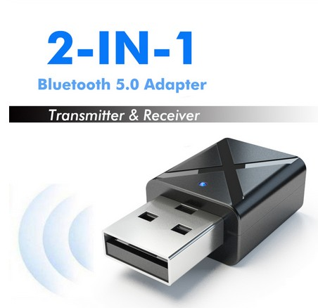 Bluetooth 5.0 Receiver 2 In 1 Car Bluetooth Adapter TV Speaker Mini 3.5mm AUX Stereo Wireless Adapter For Car Mp3 PC TV Player